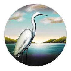 He Kotuku Rerenga Tahi II. Giclee print on Hahnemühle archival paper. Limited edition of White Heron. Juliet Best Art Prints, Wellington, New Zealand, NZ. Art Prints For Sale, Art For Sale, Fine Art Prints, New Zealand Art, Nz Art, Maori Art, Large Prints, Bird Art, Cool Artwork