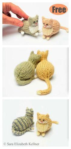 Tiny Parlor Cat Free Knitting Pattern Use this Panda Amigurumi Crochet Pattern to create your own adorable animal toy .Use this Panda Amigurumi Crochet Pattern to create your own adorable animal toy. Amigurumi toys make Crochet Gratis, Free Crochet, Knit Crochet, Crochet Afghans, Crochet Toys, Knitted Cat, Knitted Animals, Animal Knitting Patterns, Knit Patterns
