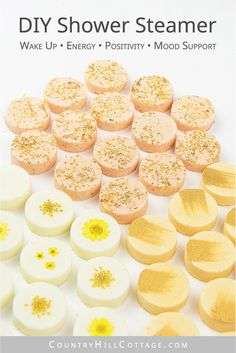 See how to make 3 easy aromatherapy shower bombs recipe for wake up shower melts, uplifting citrus shower steamers and energizing shower fizzies. Organic Bath Bombs, Natural Bath Bombs, Diy Shower, Shower Tips, Bath Bomb Packaging, Essential Oil Bath Bombs, Baking Soda Bath, Diy Beauty Products To Sell, Bath Products