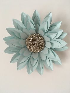 """40cm (16"""") Dahlia created from pearlescent card and paper"""