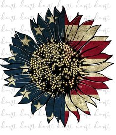 Sunflower Clipart, Sunflower Flower, Sunflower Tattoos, American Flag Drawing, 4th Of July Clipart, Patriotic Tattoos, Patriotic Pictures, Sunflowers And Daisies, Half Sleeve Tattoos For Guys