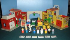 Greatest toys ever. . . .My Fisher Price Little People Village along with my school. Hours of fun!