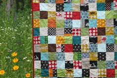 Fun, simple quilt.  I think this is from the Film in the Fridge blog.