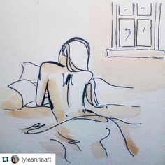 Beautiful lines created by  @lyleannaart. Tag and follow #talentedpeopleinc for a featured post!  Nude Study 01 // coffee and ink on 6x6 watercolor paper tile  LINK IN BIO  #sketch #watercolor #coffee #paint #draw #ink #pen #art #nude #talentedpeopleinc #creativegallery #featuremyart #worldofartists #proartists #instaartist #instaart #InstagramBHAM #weartbham #etsyshop #etsy #portrait by talentedpeopleinc