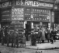 Foyles Bookshop opened in 1906 by brother William and Gilbert. The greatest bookshop the world over. London History, British History, Vintage London, Old London, Old Photos, Vintage Photos, Old Street, London Calling, Historical Photos