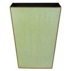 Plain Tapered Waste Paper Bin With Gold Trim