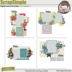 Four Seasons 1 templates by Dagi's Temp-tatons