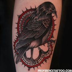 Raven Tattoo #crow #raven #bird