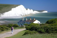 Seven Sisters cliffs in Sussex England