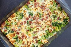 Broccoli And Ham Breakfast Casserole – Incredible Recipes Ham Breakfast Casserole, Ham Casserole, Breakfast Dishes, Casserole Recipes, Breakfast Ideas, How To Cook Ham, How To Cook Chicken, Cooked Chicken, Tupperware