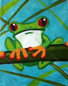 Monochromatic tree frog