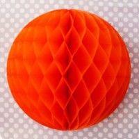 Orange pouf.