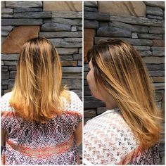 My darling guest today had some grown out highlights and she said she wanted to try the balayage look. I was able to melt 4N and synchro 5 vol, and she loved it! She loved that there was warmth and neutral blondes and I loved it too! Thank you wind for not letting me get a proper picture! #pmtsmboro #pmtslife #pmthecolor #colorlife #thankyouhairgods