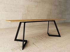 Steel and wood table / writing desk FARA by LAGERFORM