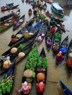 Floating Market, Banjarmasin, Indonesia     Photograph by Hary Muhammad