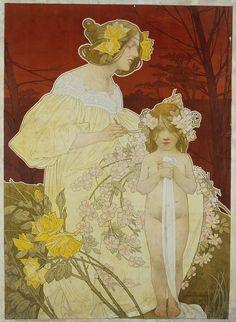 Palais de la Femme, Exposition de 1900, Henri-Privat Livemont