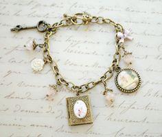 Elizabeth Bennet Charm Bracelet - Jane Austen Jewelry - Key to Pemberly - Pride and Prejudice Bracelet