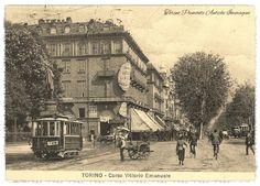 Torino , piazza Carlo Feliceangolo corso Vittorio Emanuele II 1920>OGGI