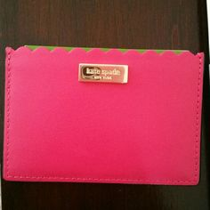 Kate Spade Maple Court Granham Cards Holder Pink, new with tag, never used has 3 pockets for cards. Very stylish and cute, No Trades. Thank you kate spade Bags Wallets