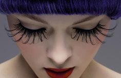 extra long lashes.