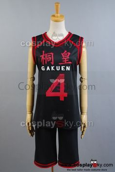 Kuroko no basuke Gakuen No.4 Jersey Cosplay Costume,custom-made in your own measurements.This Jersey can be custom made for both Adults and Children..