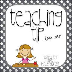 Miss Kindergarten: Teaching Tip Linky Party