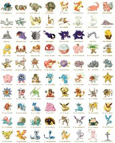 original 150 pokemon with names - Google Search