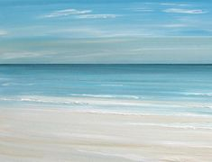 Beach seascape painting print - Ocean beach fineart print by Francine Bradette-FREE S on Etsy, $40.00