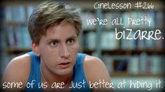 CineLesson 266 breakfast club one of my favorite movies of all time 80s Movies, Great Movies, Tv Quotes, Movie Quotes, Excellence Quotes, Brat Pack, Movies Worth Watching, The Breakfast Club, Music Tv