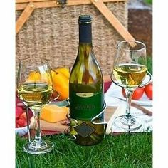 Set of Steady Sticks Outdoor Wine Bottle and Glass Holders by TRUE. $24.99. Sturdy and simple to use.. Steady Sticks balance wine bottles and stemware in any outdoor setting. Weather resistant stainless steel holders are sturdy and simple to use. Just push one (or several) into the grass or sand for spill-free wining and dining. 3-pc set includes bottle stick and 2 stemware sticks.  Size: Bottle Stick- 9-7/8'H; Stemware Sticks- 11'H