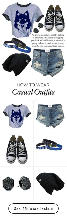 """Casual"" by missolivetree on Polyvore featuring Converse, One Teaspoon and Kendra Scott"