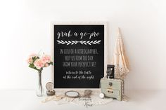 Printable wedding signs, Chalkboard wedding photo booth sign, grab a go-pro, wedding video grapher sign, photo booth, 8x10, Digital File