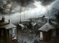 Bob Barker is a UK based artist, born and bred in Yorkshire. It's taken Bob Barker twenty years for his long time love of painting to evolve from a hobby to the point where interest in his work has taken on worldwide awareness. Oil Paint Set, Irish Painters, Window Art, Urban Life, Urban Landscape, Dungeons And Dragons, Old Houses, Illustration Art, Illustrations