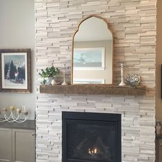 You'll love the Gold Arch Wall Mirror at Joss & Main - With Great Deals on all p. - You'll love the Gold Arch Wall Mirror at Joss & Main – With Great Deals on all products and Fre - Fireplace Mirror, Brick Fireplace, Fireplace Mantels, Wall Mirror, Fireplace Ideas, Fireplaces, Mantle Ideas, Fireplace Remodel, Fireplace Surrounds