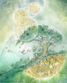 Stephanie Law - watercolor painter, botanical illustrator and artist of fantastical dreamworld imagery. Art And Illustration, Watercolor Illustration, Watercolor Paintings, Tattoo Watercolor, Painting Art, Watercolors, Fantasy Kunst, Fantasy Art, Inspiration Art