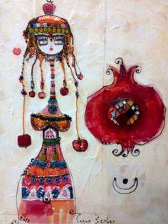 Canan Berber Art Online - 019 Karla Gerard, Open Art, Free Vector Illustration, Turkish Art, Simple Art, Painting Patterns, Artist Painting, Medium Art, Online Art