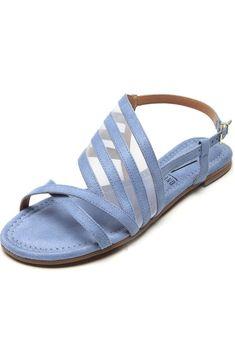 Rasteira Vizzano Tiras Finas Azul - Marca Vizzano Sandals, Shoes, Women, Fashion, Women's Sandals, Blue, Moda, Shoes Sandals, Zapatos