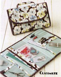 Carry your craft supplies in style with this case. Classmate (Pattern) from Atkinson Designs uses Quilter's Vinyl for your bag windows. Finished size 7in x 12in x 1in (Closed), 12in x 21in (Open)