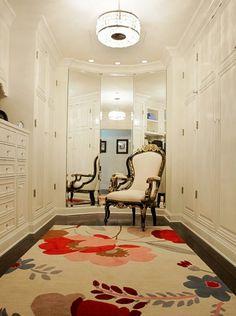 all white dressing room