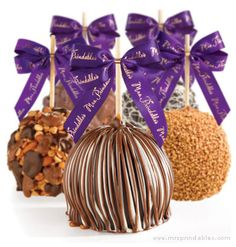 carmel/chocolate/candy apples are a great gift for your hair stylist, manicurist, the post man(woman), the UPS/FedEx deliveryman, babysitter, etc.