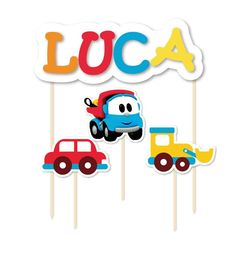 Lucca, 2nd Birthday, Smurfs, Cake Toppers, Trucks, Party, Safari, Truck Cakes, Dump Truck Party