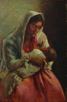 Ipolit Strâmbu  - Maternitate The World's Greatest, Great Artists, Maternity, Tapestry, Art Prints, Artwork, Poster, Painting, Fleece Blankets