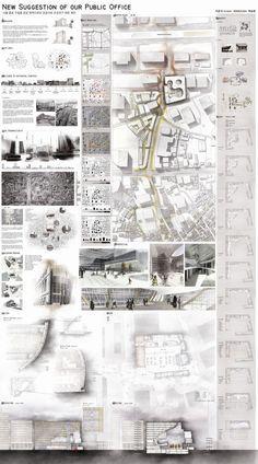 건축학과 포트폴리오 의 꽃인 건축판넬디자인 레이아웃 ...