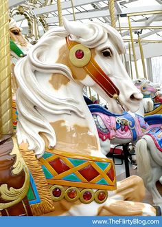 Looff carousel horse - beautiful paint horse