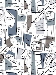 """New Media, """"abstract faces"""" Abstract Face Art, Abstract Portrait, Portrait Paintings, Painting Abstract, Acrylic Paintings, Art Paintings, Cute Patterns Wallpaper, New Media, Contemporary Paintings"""