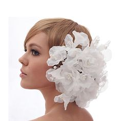 Beautiful Silk Screen/Imitation Pearls And Lace Wedding/Bride Headdress Flower – USD $ 19.99