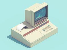3D Animations of 90's Electronics | Abduzeedo Design Inspiration