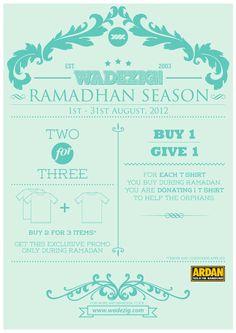 Wadezig advertising for ramadhan edition. #typography #design #charity