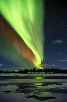 Aurora borealis in Lapland, Finland