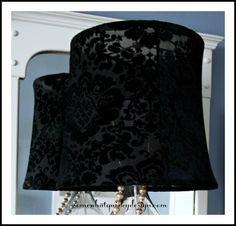 Somewhat Quirky: Dressing Up A Lampshade - A Tutorial Part 2